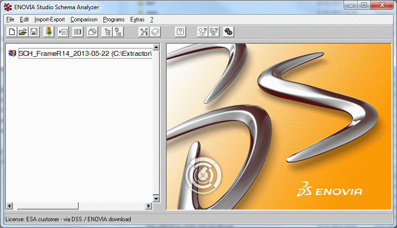 ENOVIA Studio Schema Analyzer - Launcher